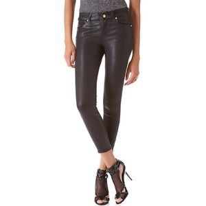 7 For All Mankind Cropped Coated Skinny Jeans